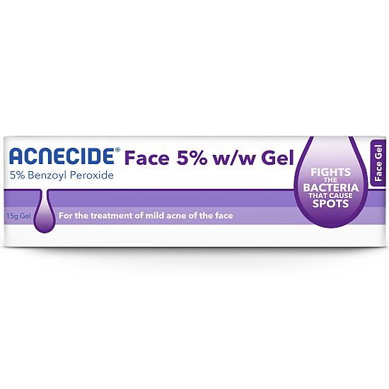 Acnecide Face Gel Spot Treatment Benzoyl Peroxide - 15g