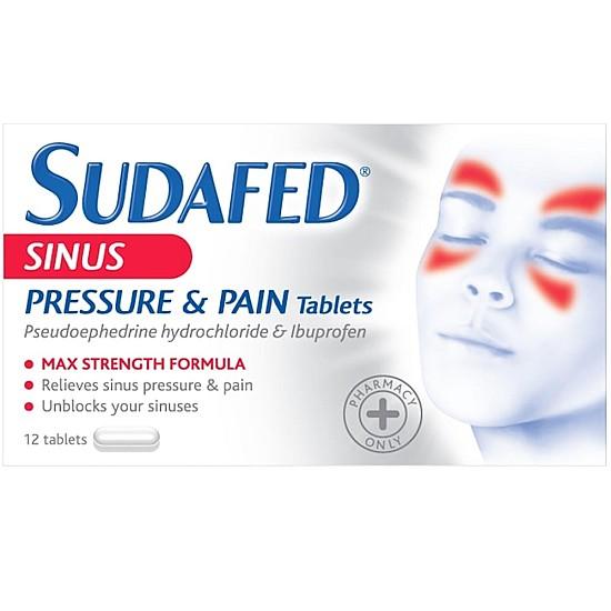 Sudafed Sinus Pressure & Pain Relief - 12 Tablets