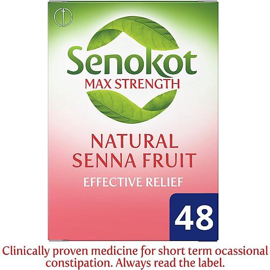 Senokot Max Strength Senna Laxative - 48 Tablets