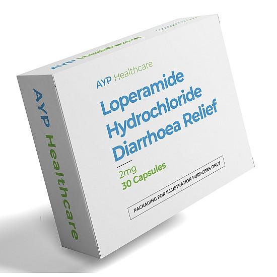 30 Loperamide Hydrochloride Diarrhoea Relief 2mg Capsules