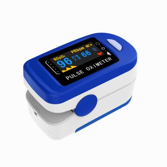 Fingertip Pulse Oximeter for Adult and Kids, SpO2 Oximeter and Blood Oxygen Saturation Monitor (Batteries Included)