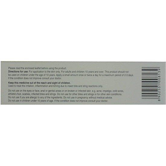 2 x Skincalm 10g Bite and Sting Relief 1% Cream