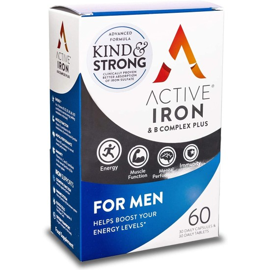 Active Iron For Men - 30 Iron Tablets & 30 Multivitamin Tablets