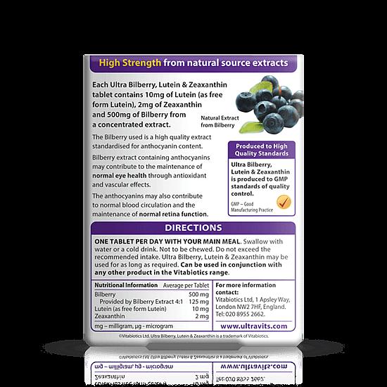 Vitabiotics Ultra Bilberry, Lutein & Zeaxanthin - 30 Tablets
