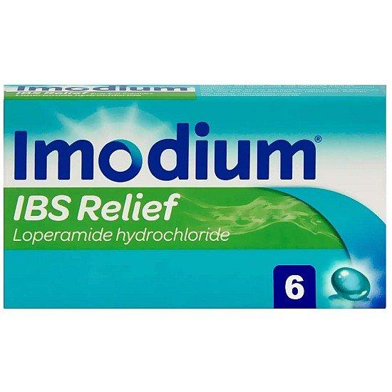 Imodium (Loperamide Hydrochloride) IBS Relief 2mg – 6 Soft Capsules