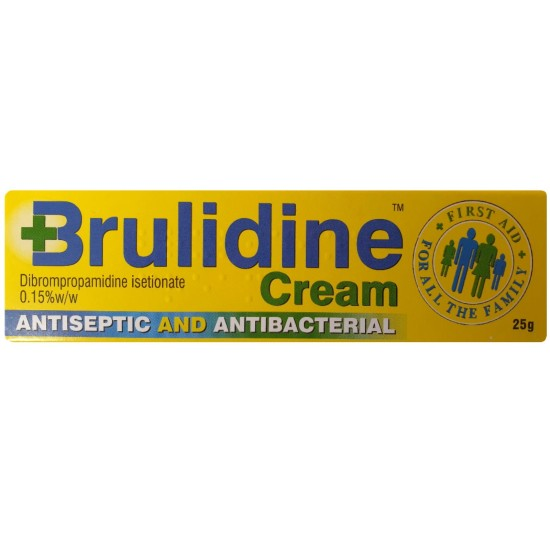 Brulidine Antiseptic and Antibacterial Cream 0.15% - 25g - 3 Pack