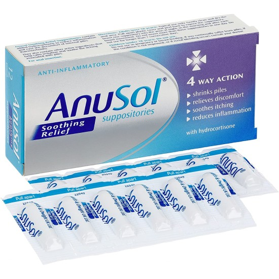 Anusol Soothing Relief - 12 Suppositories