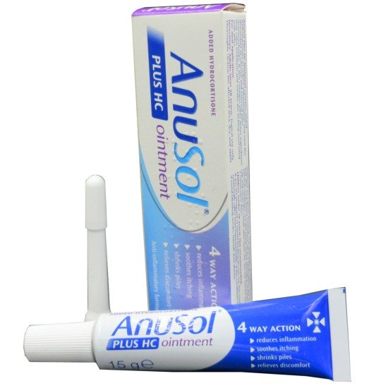 Anusol Plus HC Ointment Haemorrhoids 4 Way Action 15g