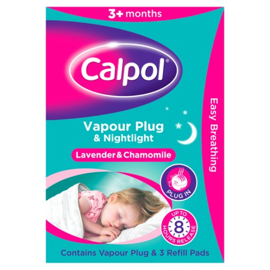 Calpol Vapour Plug & Nightlight with 3 Refills