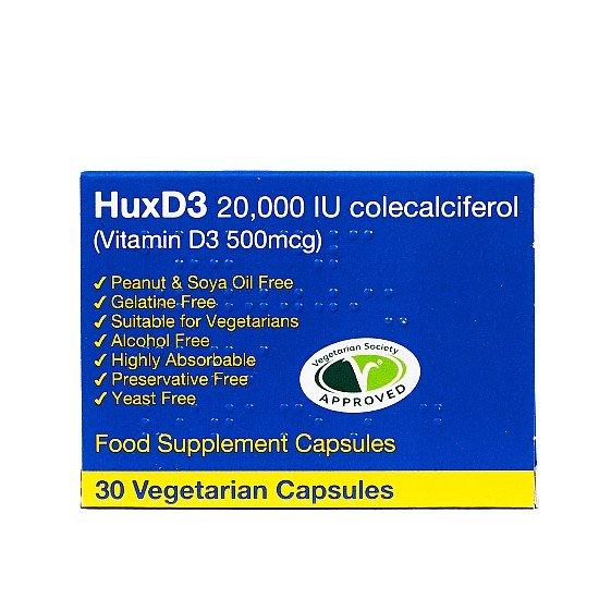 HuxD3 Capsules 20000IU Colecaliferol - 30 Capsules