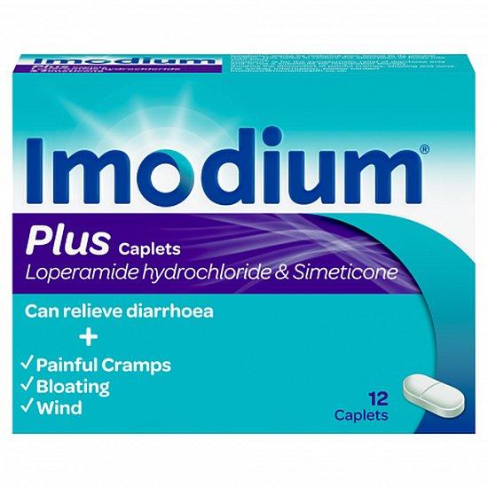 Imodium Plus 2mg/125mg - 12 Caplets
