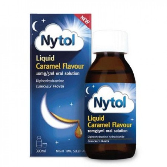 Nytol Liquid Caramel Flavour 10mg/5ml - 300ml