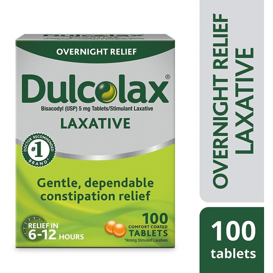 Dulcolax 5mg Tablets for Constipation, 100 Tablets