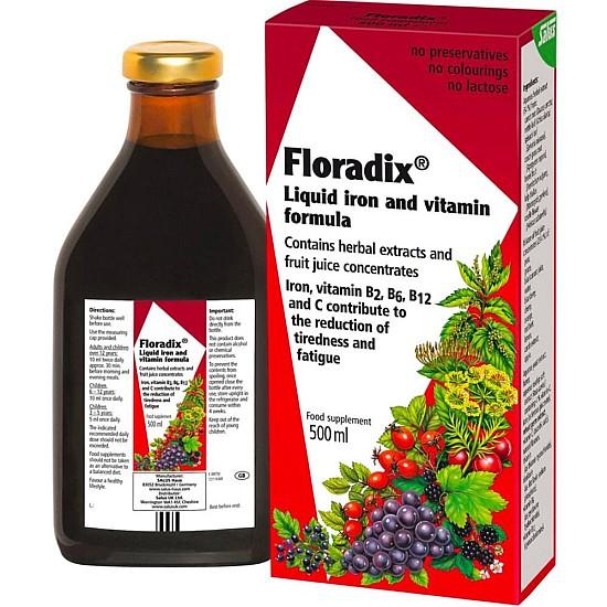 Floradix Liquid Iron & Vitamin Formula - 500ml