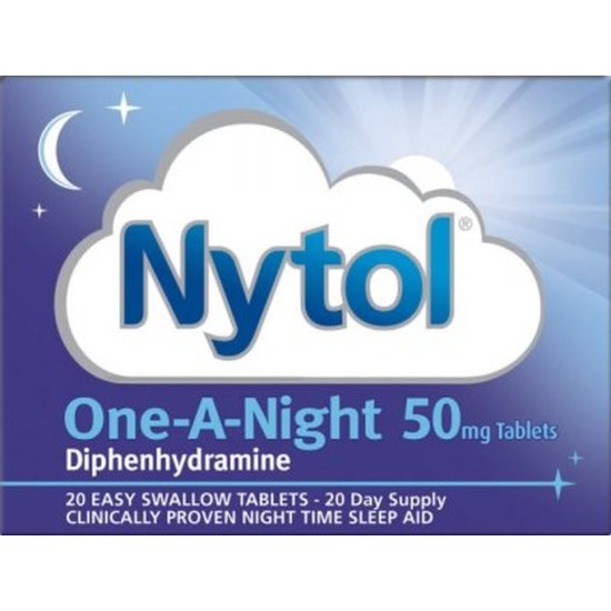 Nytol One-A-Night 50mg - 20 Tablets